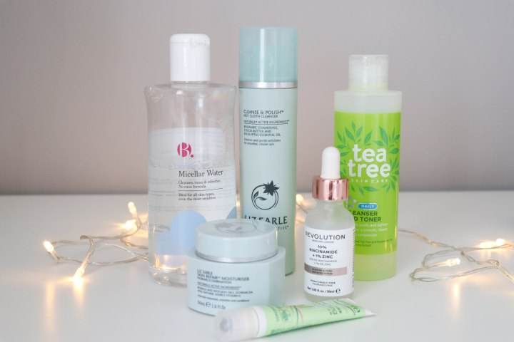 Evening skin care routine